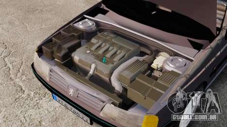 Peugeot 405 GLX para GTA 4 vista de volta