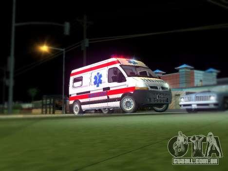 Renault Master ambulância sérvio para GTA San Andreas