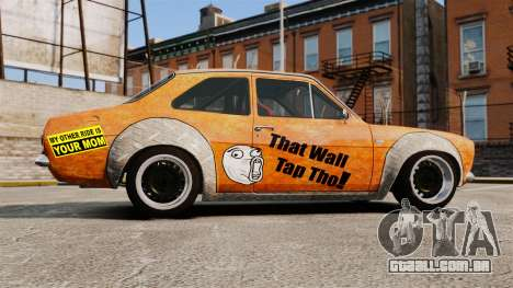 Ford Escort Mk1 Rust Rod para GTA 4 esquerda vista
