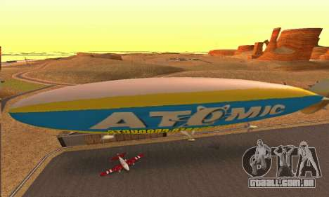 Zepellin GTA V para GTA San Andreas traseira esquerda vista