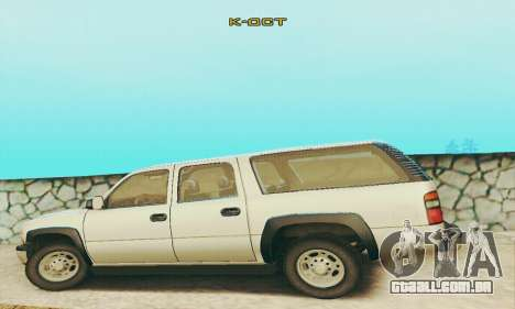 Chevrolet Suburban SAPD FBI para GTA San Andreas vista interior