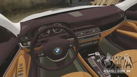 BMW M5 Touring Croatian Police [ELS] para GTA 4 vista interior