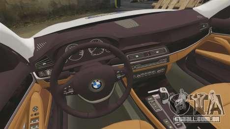 BMW M5 Touring Croatian Police [ELS] para GTA 4 vista interior