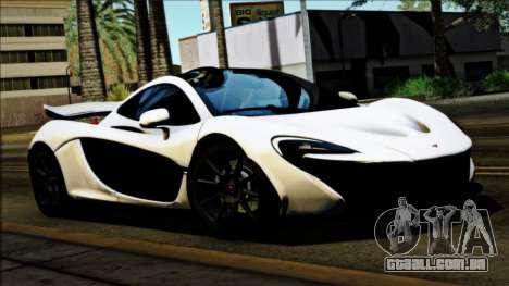 McLaren P1 2014 para GTA San Andreas traseira esquerda vista