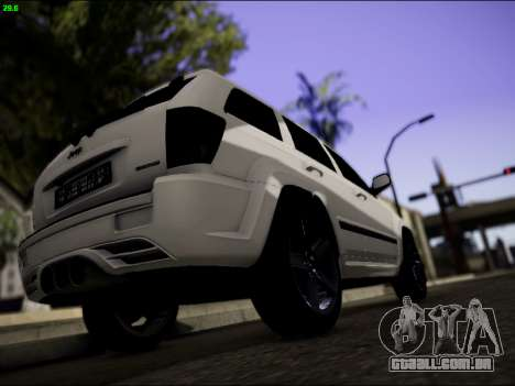Jeep Grand Cherokee SRT8 para GTA San Andreas vista direita
