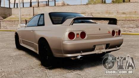 Nissan Skyline GT-R (R32) para GTA 4 traseira esquerda vista