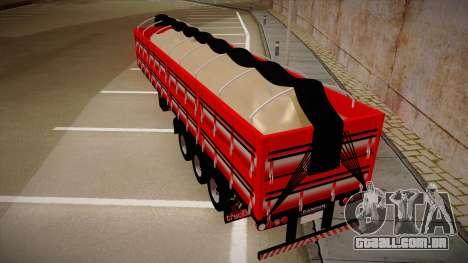 Carreta Randon de Areia para GTA San Andreas traseira esquerda vista