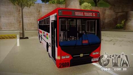 Busscar Urbanus SS Volvo B10 M Busmania para GTA San Andreas esquerda vista