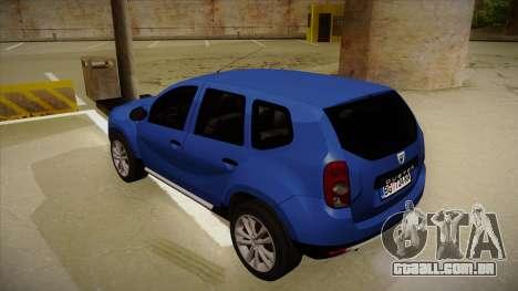 Dacia Duster SUV 4x4 para GTA San Andreas vista traseira