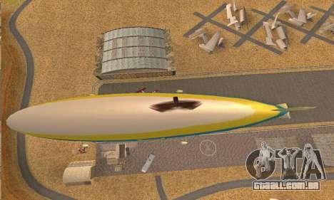 Zepellin GTA V para GTA San Andreas vista traseira