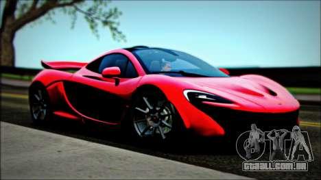 McLaren P1 2014 para GTA San Andreas vista direita