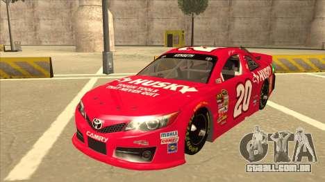 Toyota Camry NASCAR No. 20 Husky para GTA San Andreas