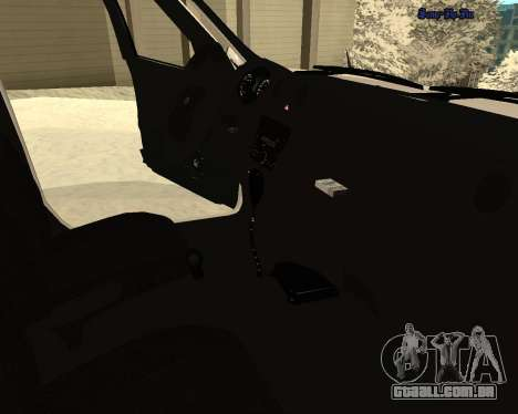 Lada Granta 2190 polícia v 2.0 para GTA San Andreas vista superior