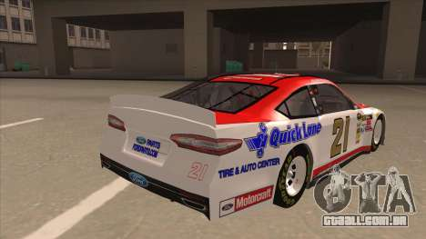 Ford Fusion NASCAR No. 21 Motorcraft Quick Lane para GTA San Andreas vista direita