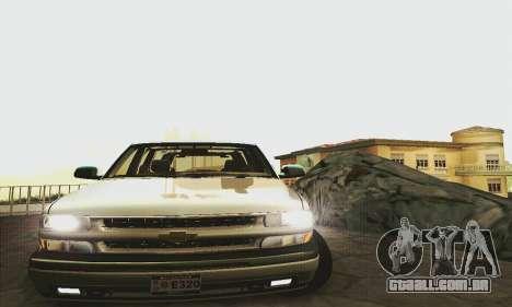 Chevrolet Suburban SAPD FBI para GTA San Andreas traseira esquerda vista