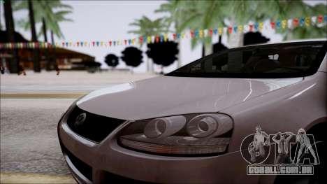Volkswagen Golf GTI para GTA San Andreas vista traseira