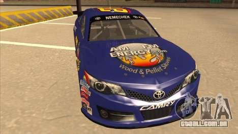 Toyota Camry NASCAR No. 87 AM FM Energy para GTA San Andreas esquerda vista