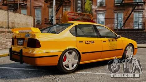 Taxi2 com novos discos para GTA 4 esquerda vista
