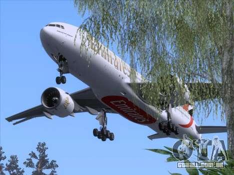 Boeing 777-21HLR Emirates para GTA San Andreas vista superior