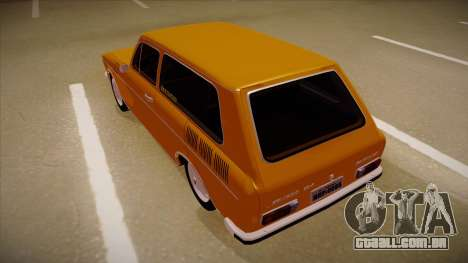 VW Variant 1972 para GTA San Andreas vista traseira
