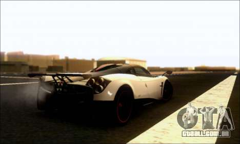 Pagani Huayra Cinque para GTA San Andreas vista direita
