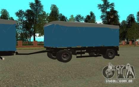 Trailer de KamAZa 5320 para GTA San Andreas vista direita