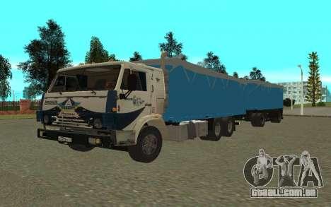 Trailer de KamAZa 5320 para GTA San Andreas vista traseira