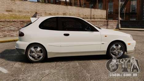 Daewoo Lanos GTI 1999 Concept para GTA 4 esquerda vista