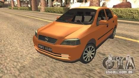 Opel Astra 1.6 TDi SEDAN para GTA San Andreas traseira esquerda vista
