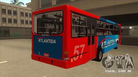 Marcopolo Torino G6 Linea 57 Atlantida para GTA San Andreas vista direita