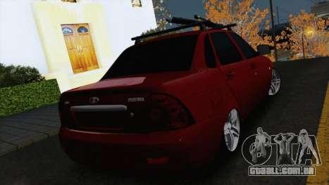 VAZ Lada Priora 2170 para GTA San Andreas traseira esquerda vista