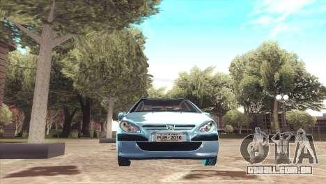 Peugeot 307 para GTA San Andreas vista direita