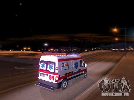 Renault Master ambulância sérvio para GTA San Andreas traseira esquerda vista