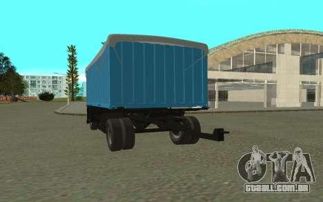 Trailer de KamAZa 5320 para GTA San Andreas esquerda vista