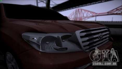Toyota Land Cruiser 200 para GTA San Andreas vista direita