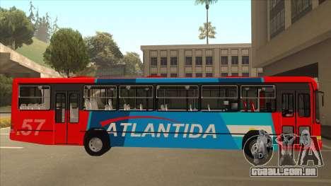 Marcopolo Torino G6 Linea 57 Atlantida para GTA San Andreas traseira esquerda vista
