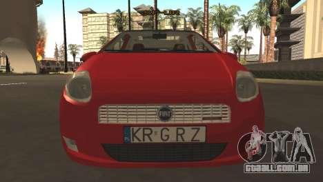 Fiat Grande Punto para GTA San Andreas esquerda vista