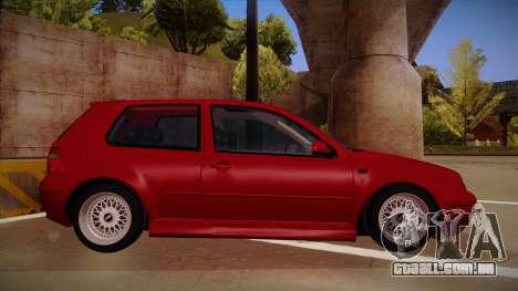 Volkswagen Golf Mk4 Euro para GTA San Andreas traseira esquerda vista
