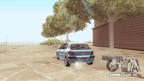 Peugeot 307 para GTA San Andreas traseira esquerda vista