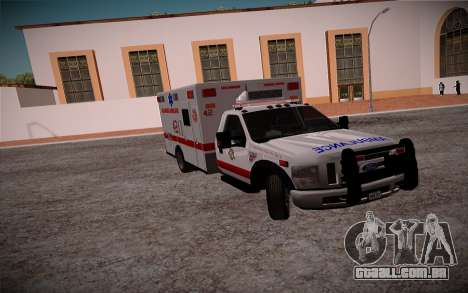 Ford F350 Super Duty San Andreas Emerency Medica para GTA San Andreas