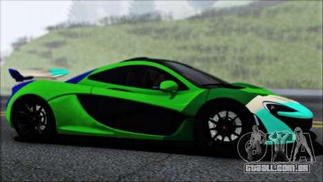 McLaren P1 2014 para GTA San Andreas vista inferior