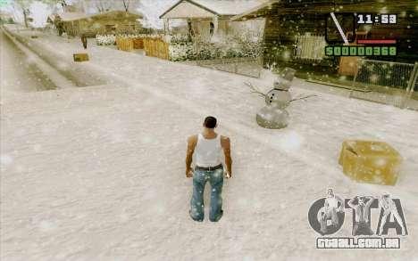 Régua de aço para GTA San Andreas quinto tela