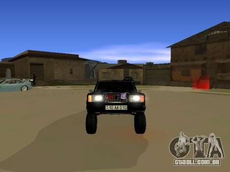 ВАЗ 2107 para GTA San Andreas traseira esquerda vista