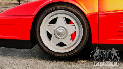 Ferrari Testarossa 1986 para GTA 4 vista de volta