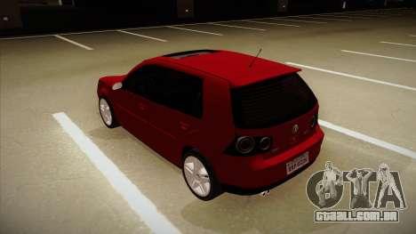 VW Golf GTI 2008 para GTA San Andreas vista traseira