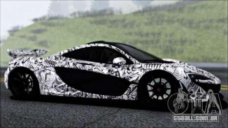 McLaren P1 2014 para GTA San Andreas vista superior