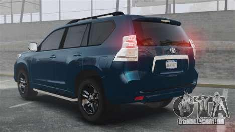 Toyota Land Cruiser Prado 150 para GTA 4 traseira esquerda vista