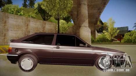 Volkswagen Gol para GTA San Andreas traseira esquerda vista