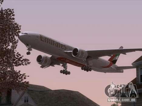 Boeing 777-21HLR Emirates para as rodas de GTA San Andreas