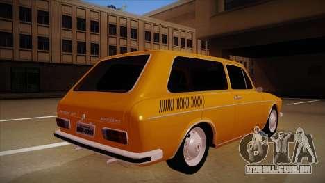 VW Variant 1972 para GTA San Andreas vista direita